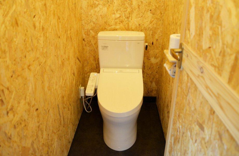 男性・女性が分かれている水洗トイレの写真です。